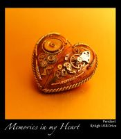 Valentine's special Steampunk USB Heart pendant by azazel-is-burning