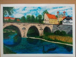 Stone bridge in Bardo by PlayeRom