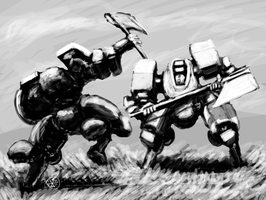 Melee by Norsehound