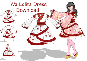 Wa Lolita Dress :DOWNLOAD: +UPDATED+ by xMMDPandux