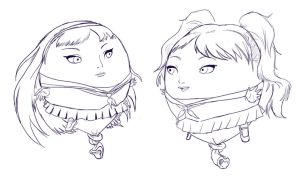 Yukiko and Rise Balloon-ified by shydude