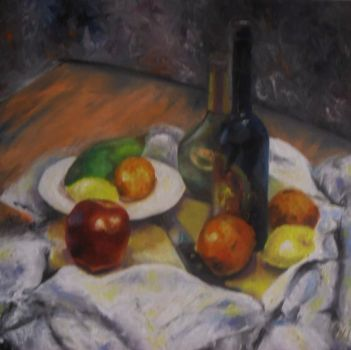 Still Life with fruit by alistark91