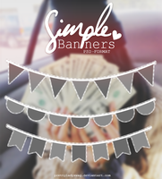 Simple Banners PSD by PrettyLadySwag