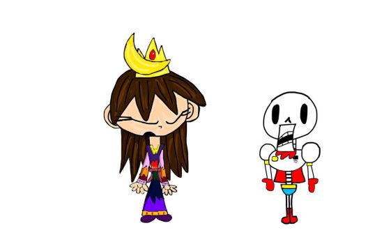 Moon Queen/Princess Kayla Lightheart and Papyrus by boo-boo-kitty-108