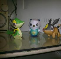Tepig, snivy and oshawott by kyogre92