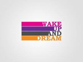Wake Up and Dream Logo by artjective