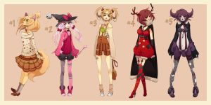 Adoptable Set [1 left] by icurunin