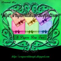 6 Papers Bow jpg Free by weezya