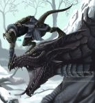 Skyrim: Dovahkiin and Dragon by VictoriaDAEDRA