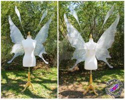 Oversized Crystal Fairy Wings by glittrrgrrl
