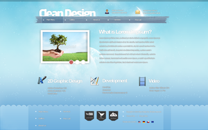 CLEAN webdesign 2011 by Dendoo13