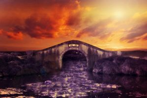 Sunset bridge by CathleenTarawhiti
