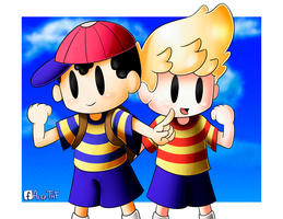 Ness and Lucas by AlexTHF