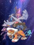 Homeworld gems in pokemon form by FireEmber345