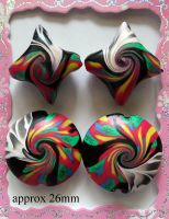 Polymer Clay Beads 68 by snowskin