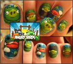 angry birds nails 2 by Ninails