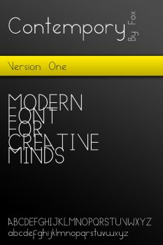 Contempory - Modern Font by MyFox