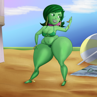 Disgust on Beach Bod Isle by TheNeverWere