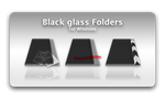 Black glass icons by lujano