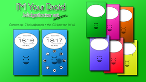 I'M Your Droid - Widgetlocker set ( Walls - Skin ) by Mstrl