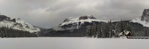Emerald Lake Pano - Winter by Lancerlover