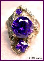 I Love Purple ring by tchrosesahna