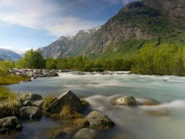 Glacier stream slow exposure by Vironevaeh