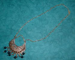 Blue and Silver Drop Necklace by MollyD
