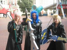 Marly, Saix and Demyx cosplays by hanaraad