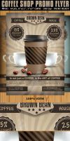 Coffee Shop Magazine Ad or Flyer Template V2 by Hotpindesigns