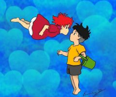 Ponyo- Young Love by Rabbit-of-the-Moon