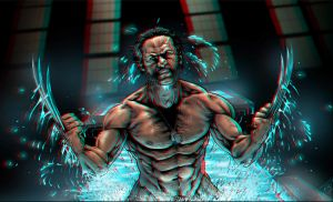 Wolverine Origin Anaglyph by Geosammy
