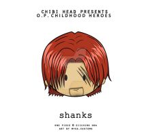 Chibi Head: Shanks by infinity-myka