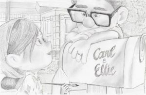 Carl and Ellie from Pixar's Up by julesrizz