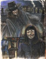 V for Vendetta V by TsarevnaDuh