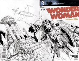 Wonder Woman Sketch Cover 2 by tedwoodsart