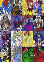 Marvel Sketch Cards by Tonioart