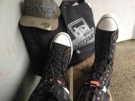 In Black converses by Admiral-Kevin