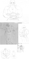 Ariana Various Sketches and Remakes by tj-caris