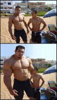 Muscles at the beach by necryll