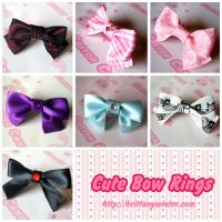 .:Cute Bow Rings:. by PhantomCarnival