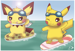Teaching Sparks to Surf by pichu90