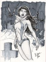 Vampirella Convention Sketch by EDGARSALAZAR