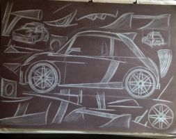 Mid-Engined Hot Hatch Design 1 by CharlieAlen