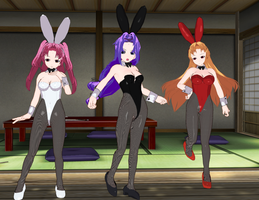 Maburaho Girls Bunnies by quamp
