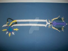 3d origami keyblade 2 by 3d-origami-luna