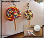Rainbow Lollipop Earrings by Sparkle-And-Sunshine