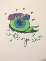 Septiceye Sam with flowercrown by BreDemonal24