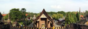 Thailand Panorama - Wat Yai Chaimongkol 01 by VachalenXEON