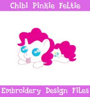 Chibi Pinkie Pie Feltie [EMBROIDERY FILES] by TheHarley